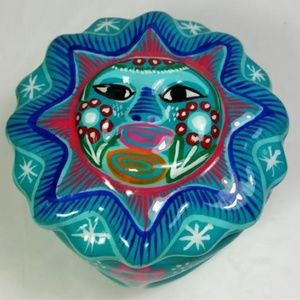 Sun Trinket Dish with Cover Bold Colors